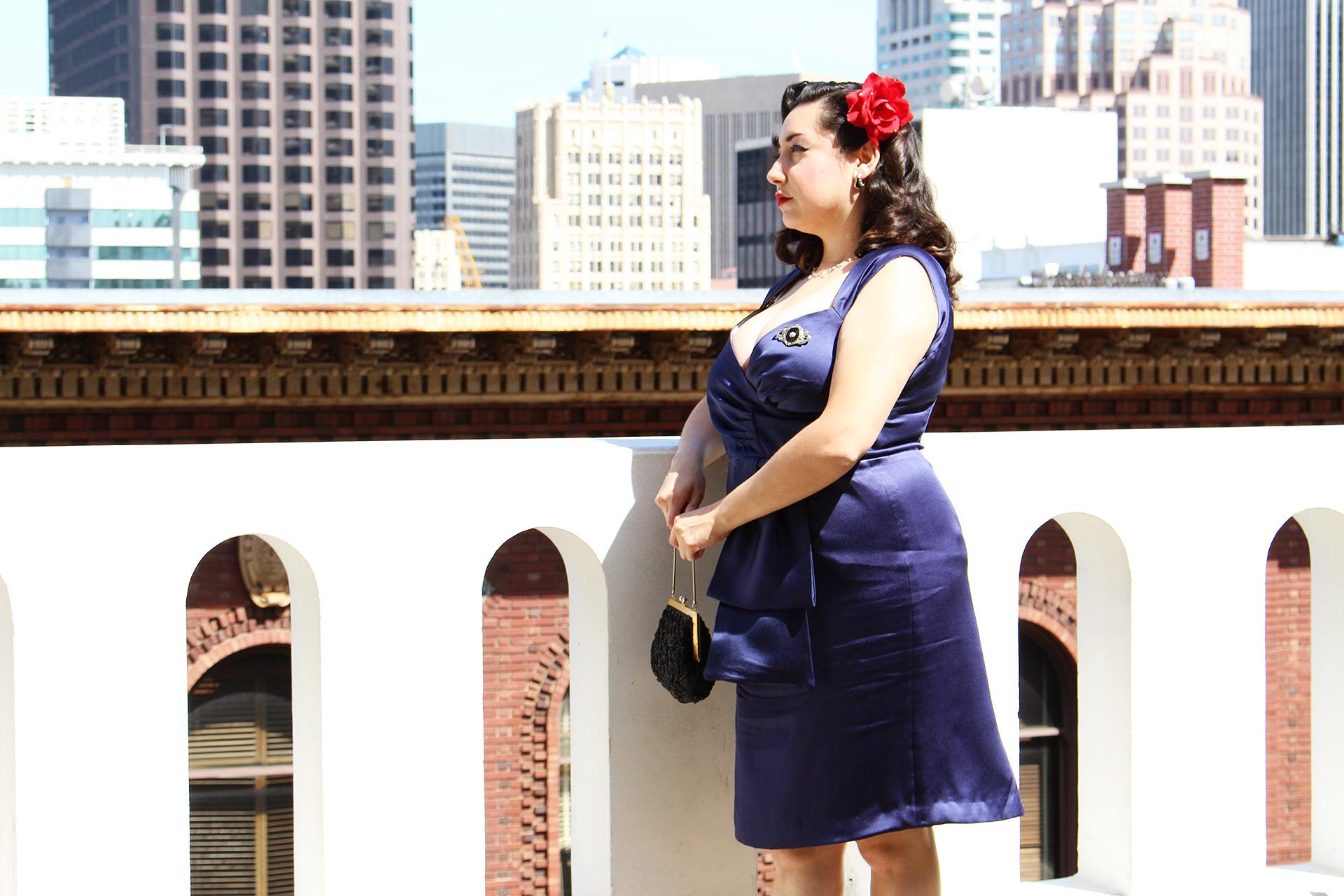 Butterick B5814, Cocktail Dress | @vintageontap