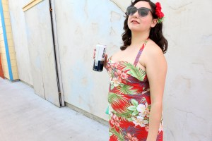 Tiki Dress, Gertie's New Book for Better Sewing, sweetheart sundress top, Pin up style | @vintageontap