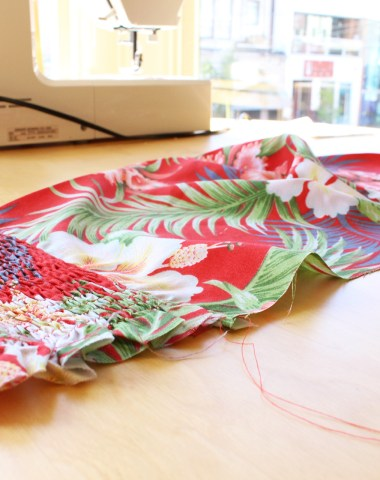 Tiki Dress, Gertie's New Book for Better Sewing, in progress bodice | @vintageontap