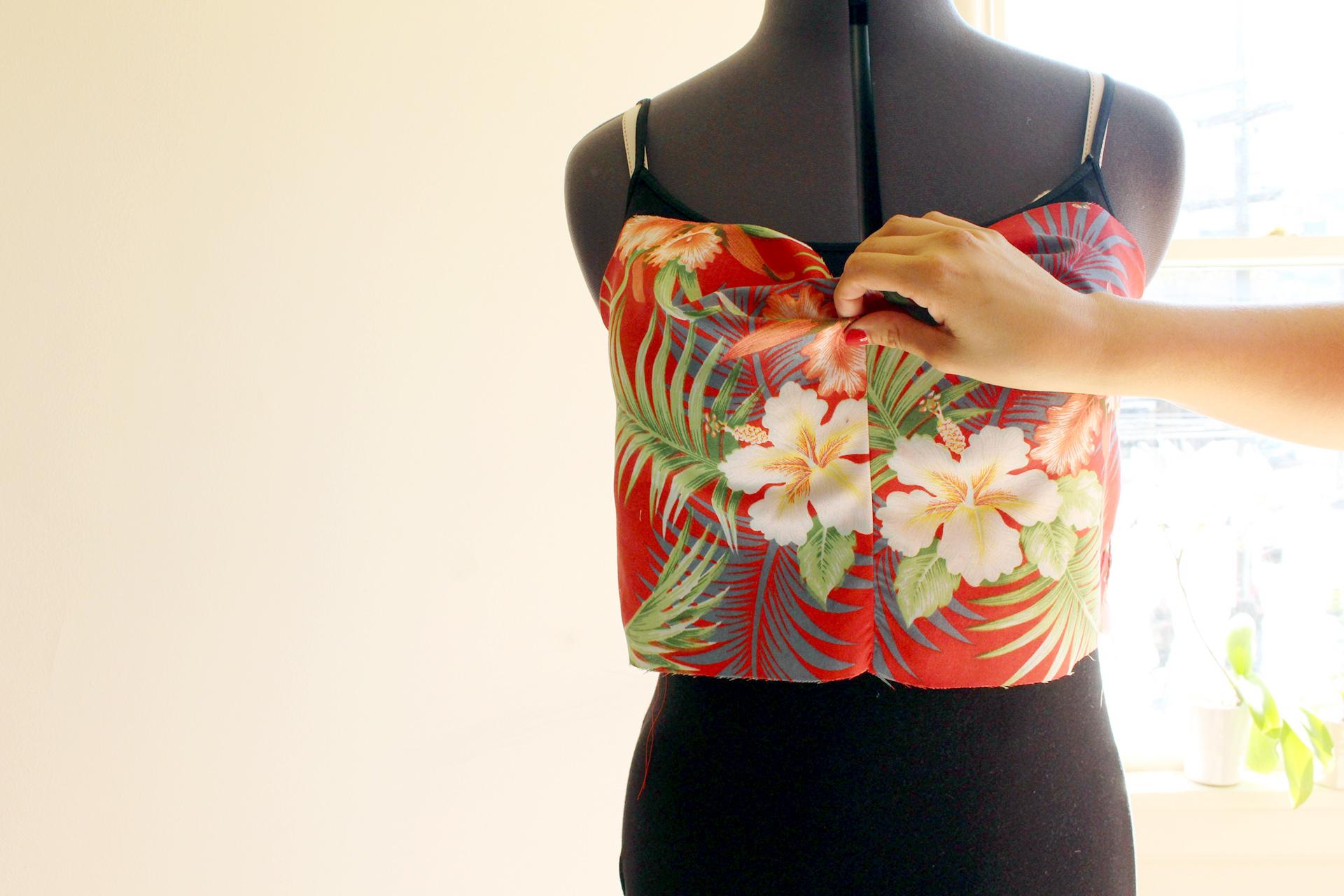 Gertie Tiki Dress, Gertie's New Book for Better Sewing, in progress bodice | @vintageontap