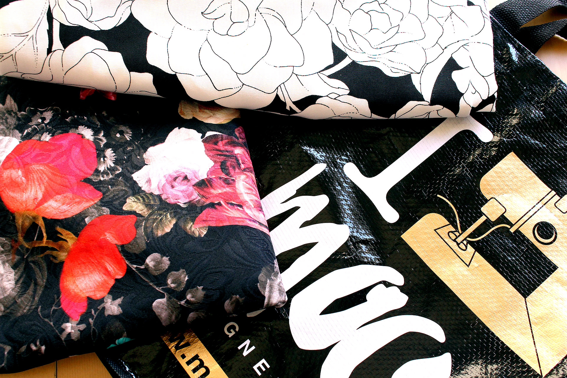 Yummy fabrics purchased at Mood Fabrics in Los Angeles, August 2016 Sewing Pinup Haul   @vintageontap