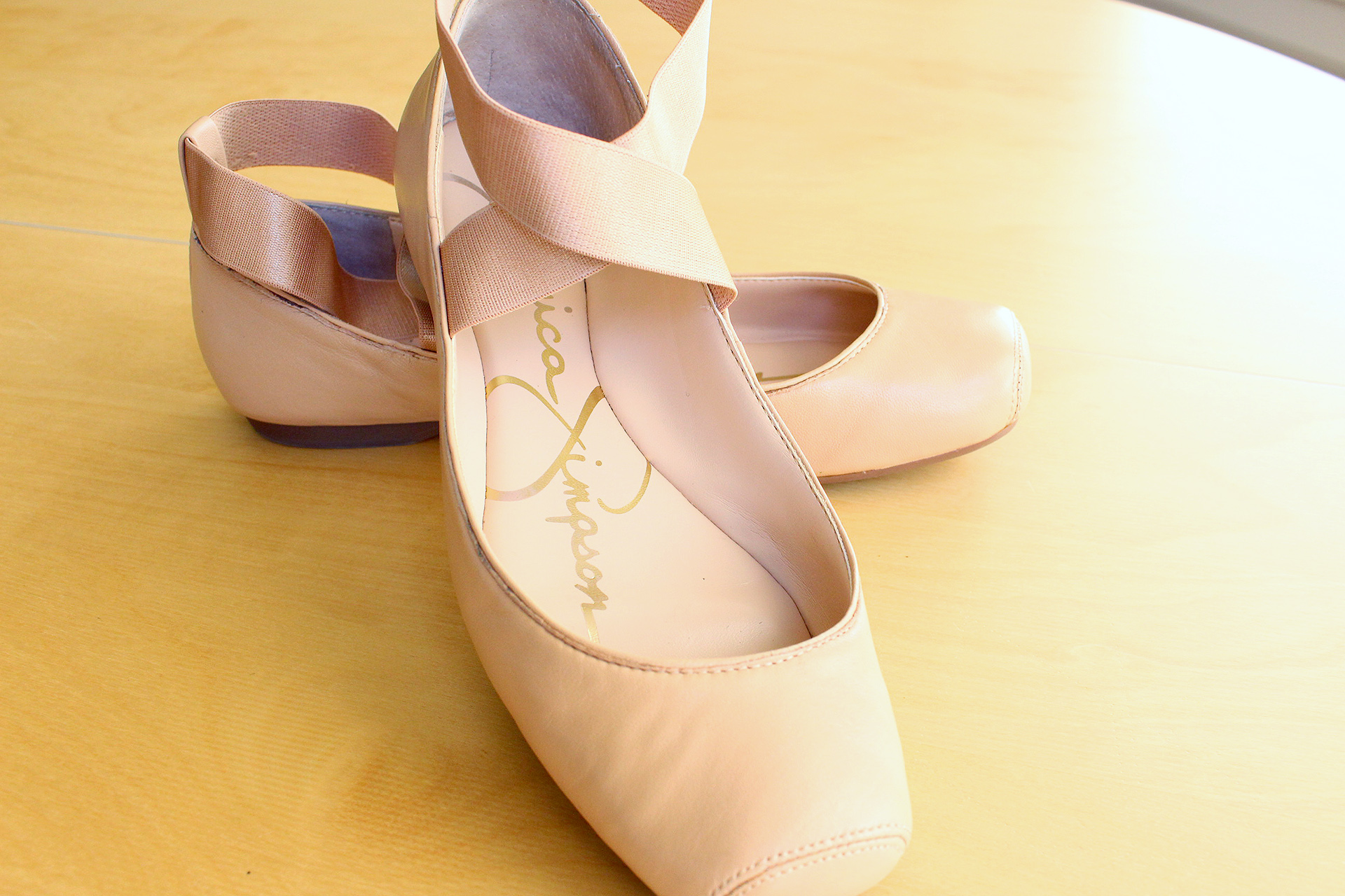 Ballet slippers from Jessica Simpson, Macy's, August 2016 Sewing Pinup Haul | @vintageontap