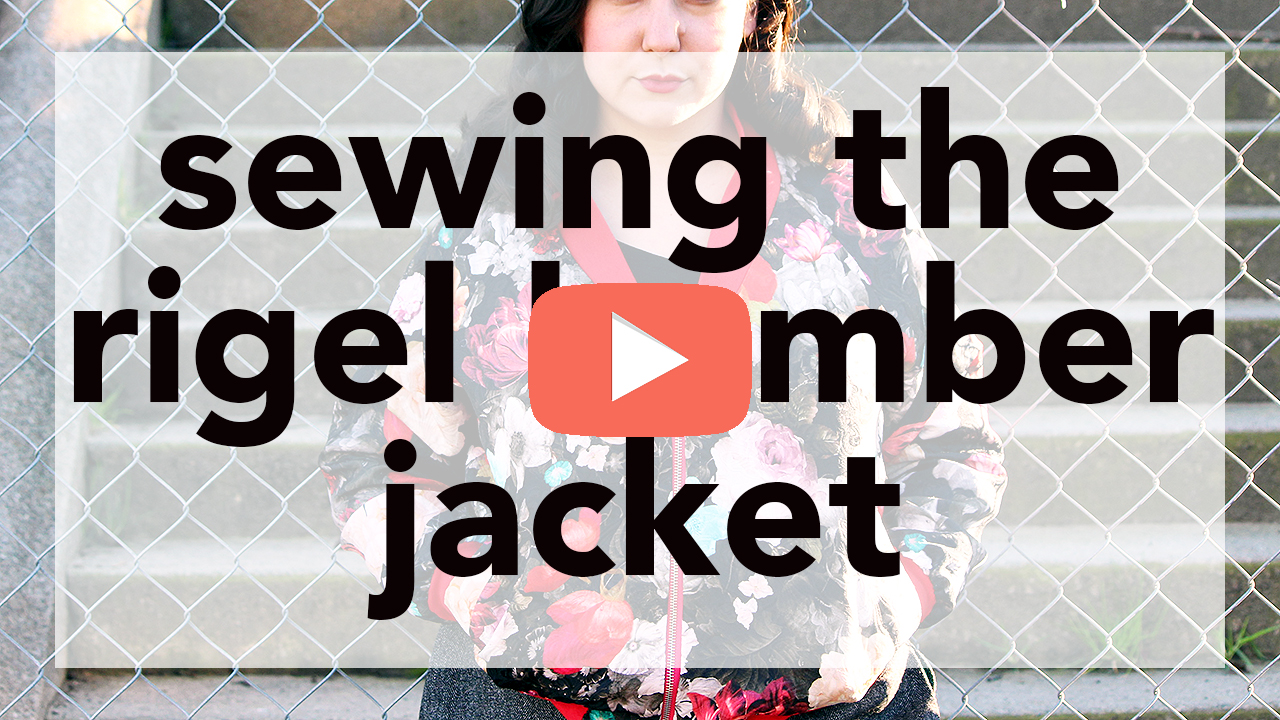Sewing the Rigel Bomber Jacket | Vintage on Tap