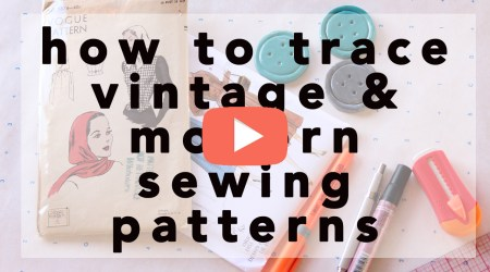 How to Trace Vintage and Modern Sewing Patterns | Vintage on Tap