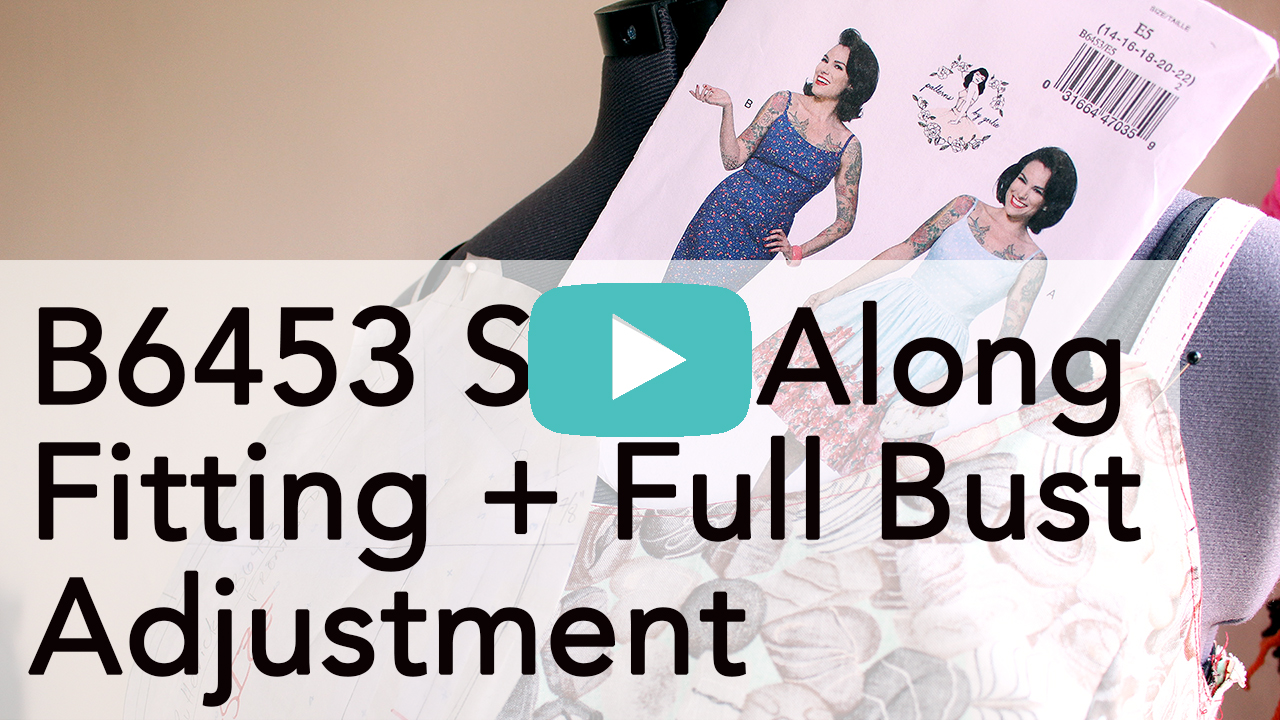 Full Bust adjustment and Fitting, Gertie B6453 Sew Along | Vintage on Tap