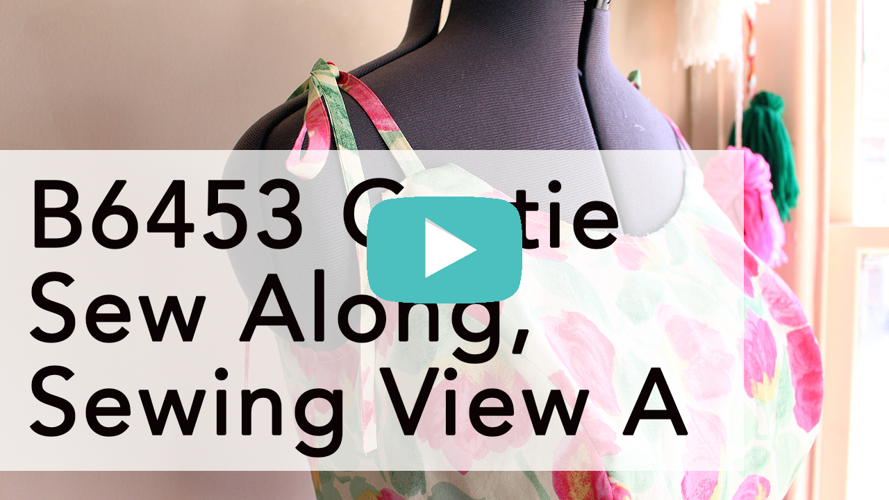 Butterick Gertie B6453 Sew Along, Sewing View A | Vintage on Tap