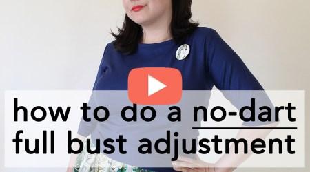 No Dart Full Bust Adjustment Tutorial   Vintage on Tap