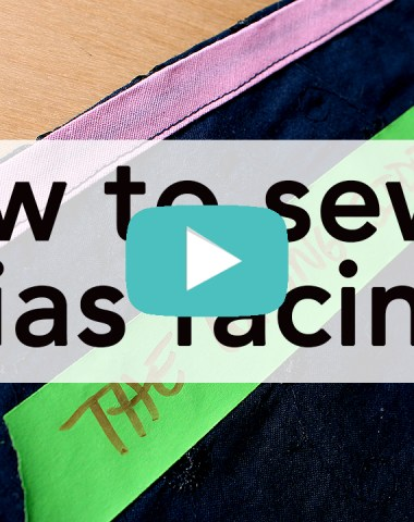 How to Sew a Bias Facing, video tutorial | Vintage on Tap