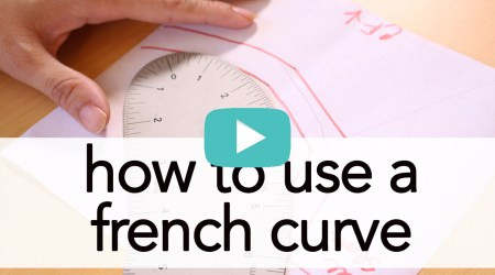 How to use a French Curve, tutorial   Vintage on Tap