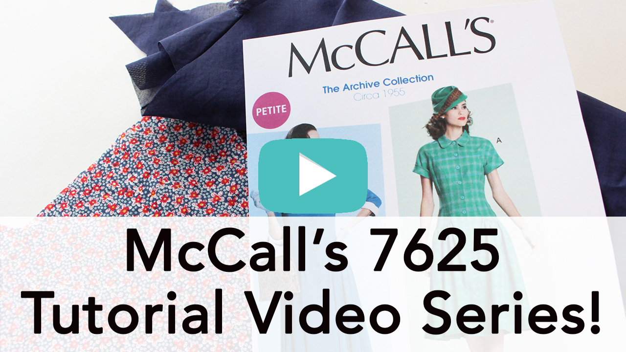 Vintage McCall's M7625 Tutorial Video Series | Vintage on Tap