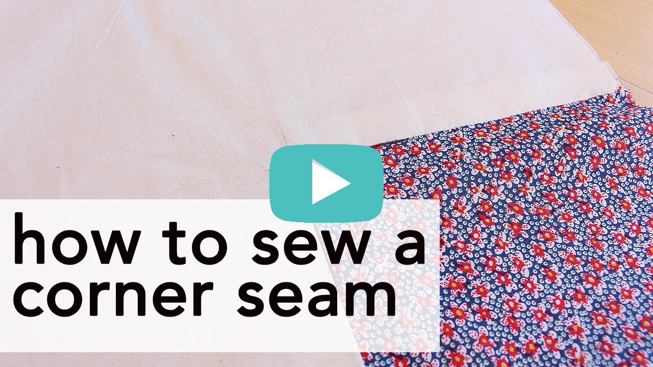 How to Sew a Corner Seam   Vintage on Tap