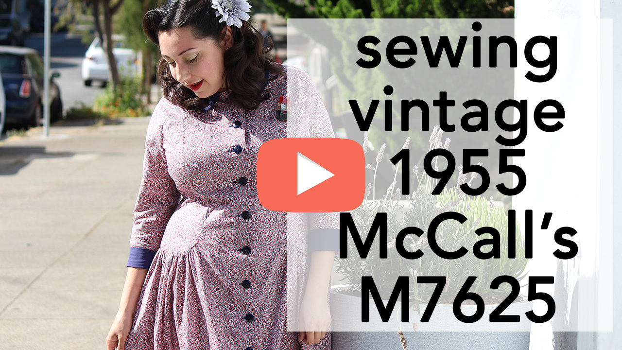 How to sew Vintage 1955 McCalls 7625 | Vintage on Tap