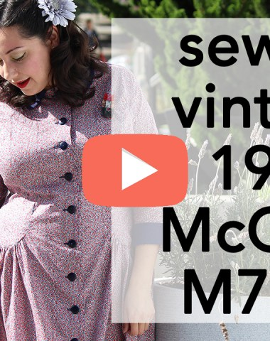 How to sew Vintage 1955 McCalls 7625 | Vintage on Tap