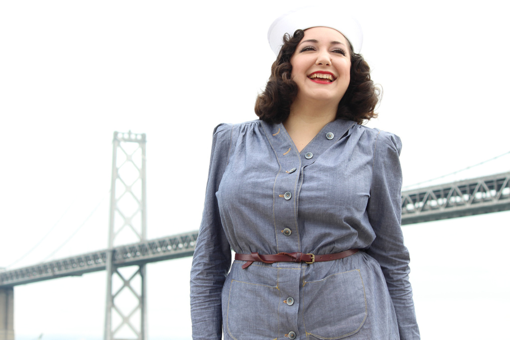 How to sew retro dresses, vintage 1940s Butterick 6282   Vintage on Tap