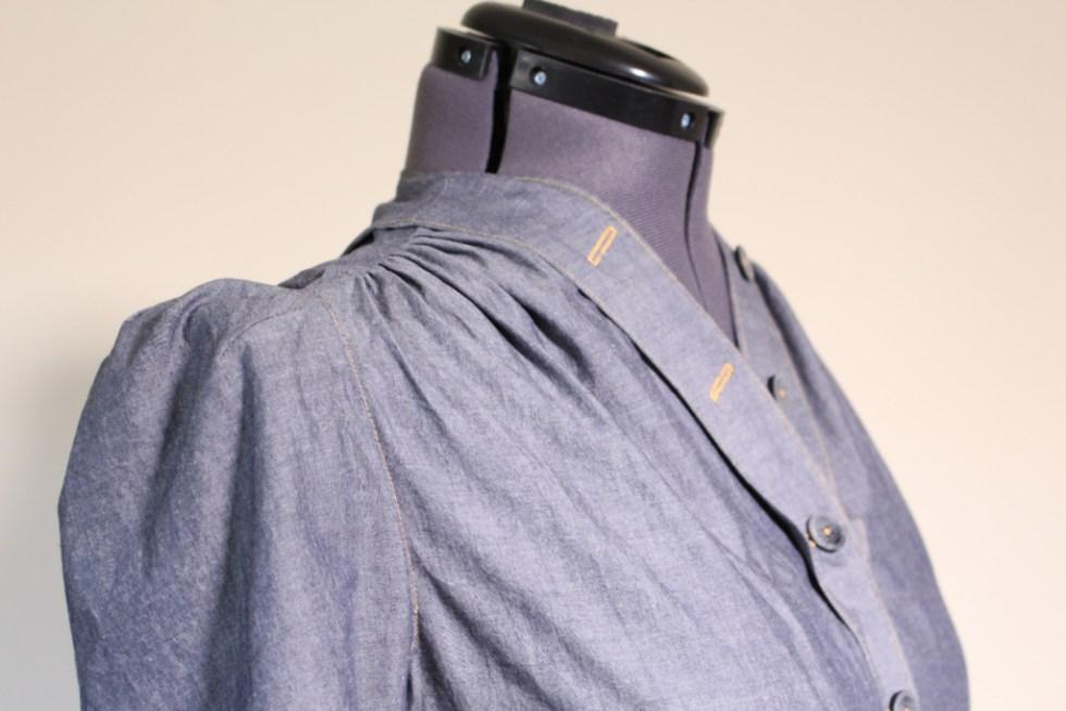 Shoulder detail, Butterick 6282 | Vintage on Tap