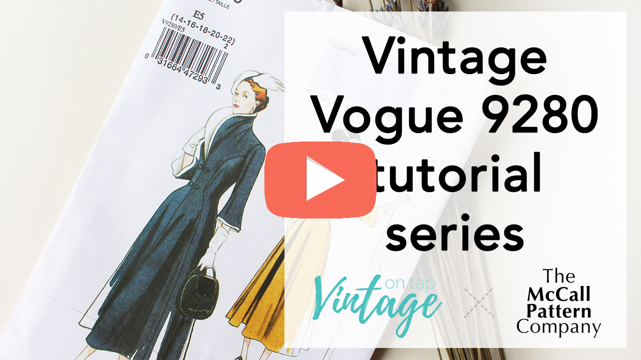Sewing Vintage Vogue V9280 video series! This series breaks down the fitting and sewing process for this 1940s piece   Vintage on Tap