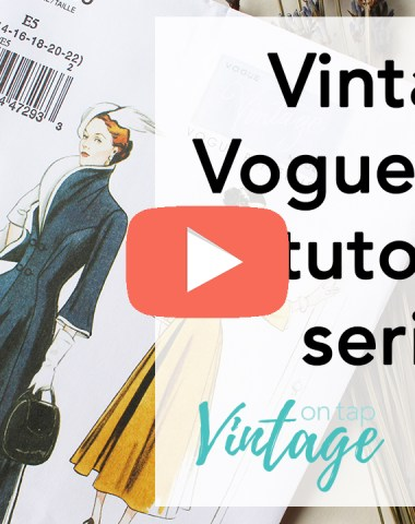 Sewing Vintage Vogue V9280 video series! This series breaks down the fitting and sewing process for this 1940s piece | Vintage on Tap