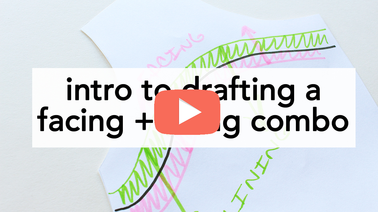 How to Draft a Facing to a Lining - and vice versa! | Vintage on Tap