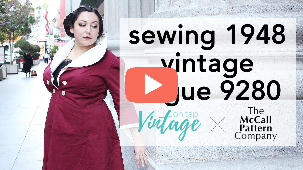 How to Sew Vintage Vogue 9280 Walkthrough | Vintage on Tap
