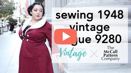 How to Sew Vintage Vogue 9280 Walkthrough   Vintage on Tap