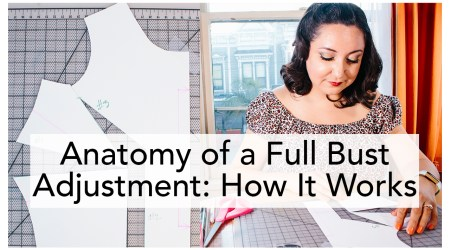 Full Bust Adjustment video tutorial, breaking down how a FBA works | Vintage on Tap Retro Sewing Blog