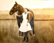Lady with Horse Original: Sold. No prints available.