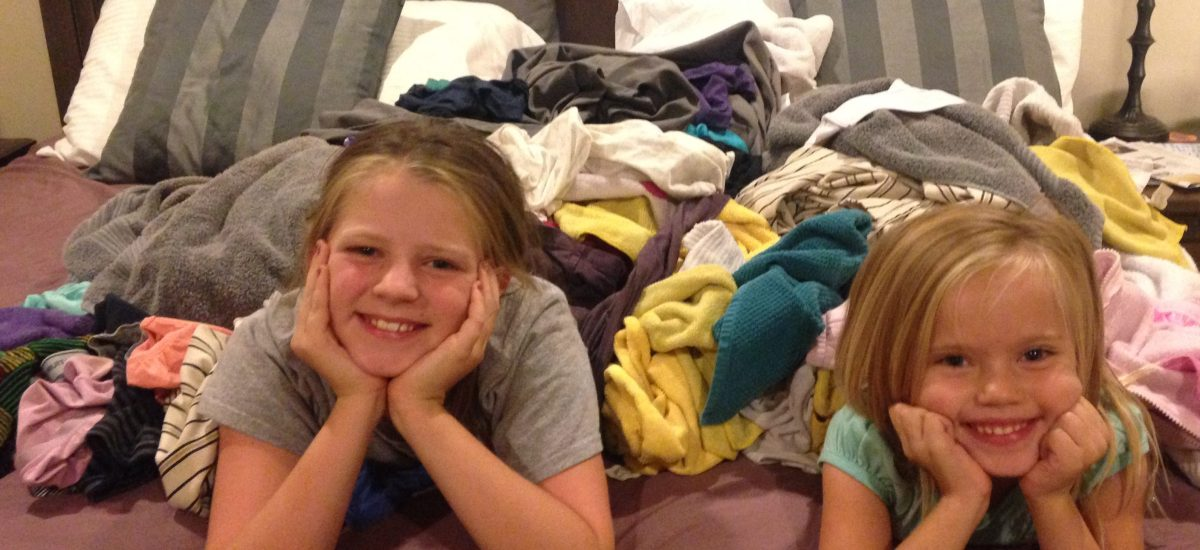 Kids in the Organized Laundry