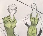 Vintage 1950s sewing pattern detail