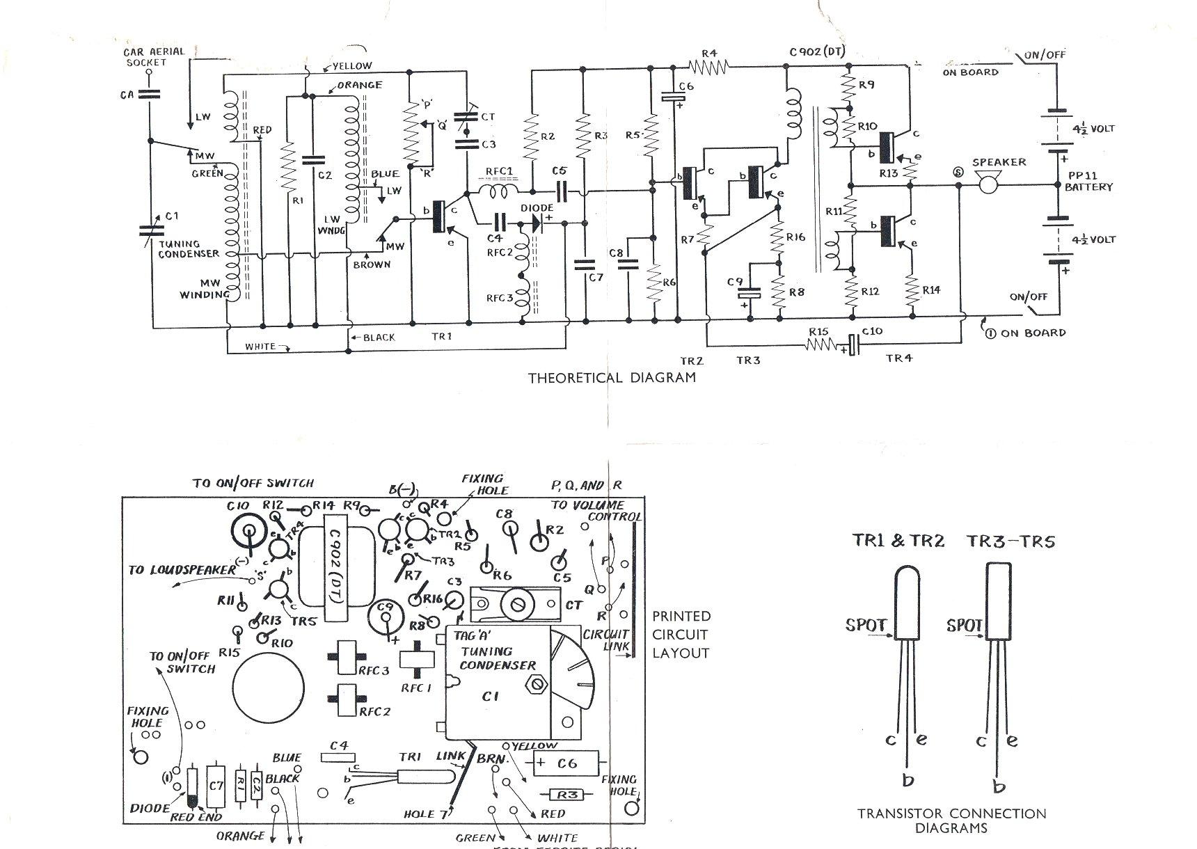 Vintage Radio And Electronics Transfive Transistor