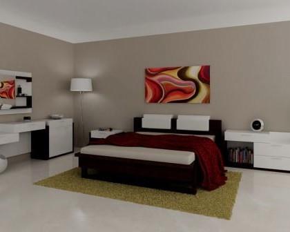 Remodelações de interiores de quartos de hotel.