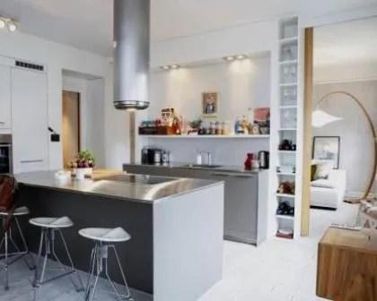 Remodelações de apartamentos: Cozinha com ilha.