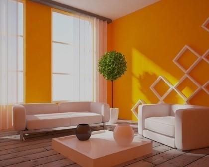 Pintura de interiores de sala de estar