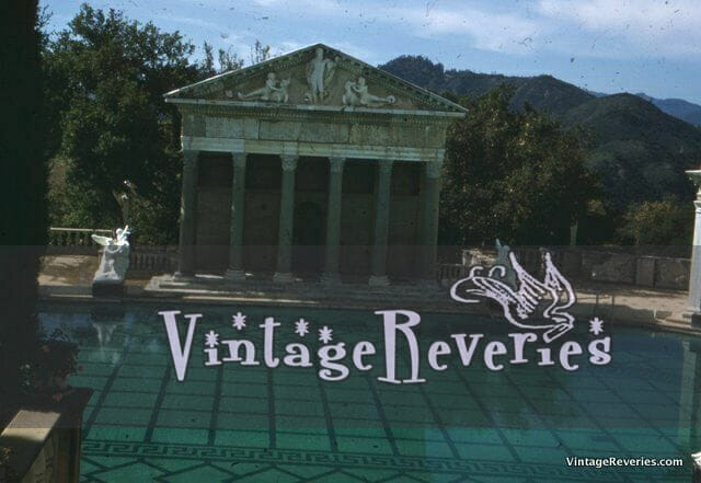 Vacation Swimming pool with columns - a kodachrome slide photo