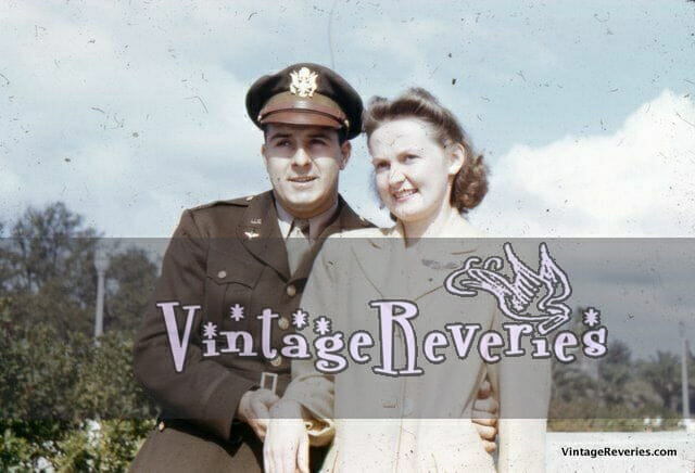 world war 2 soldier with his wife