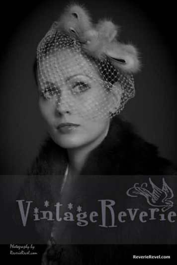 Veiled hat- 1930s style portrait