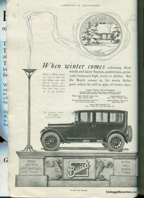 1922 Buick Advertisement