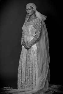 1920s wedding dress and veil St
