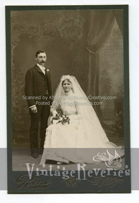 Turn of the Century Wedding, couple, and baby photo scans