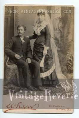 Interesting victorian bridal portrait