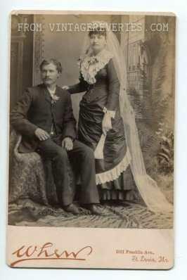 Interesting victorian bridal portrait