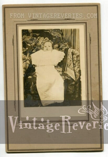 1914 baby photo and elaborate art deco frame