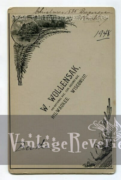 1880s photo back milwaukee wisconsin photographer