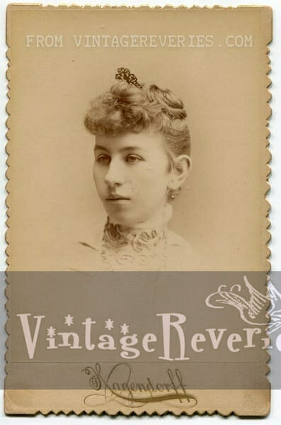 Victorian portrait of a young woman