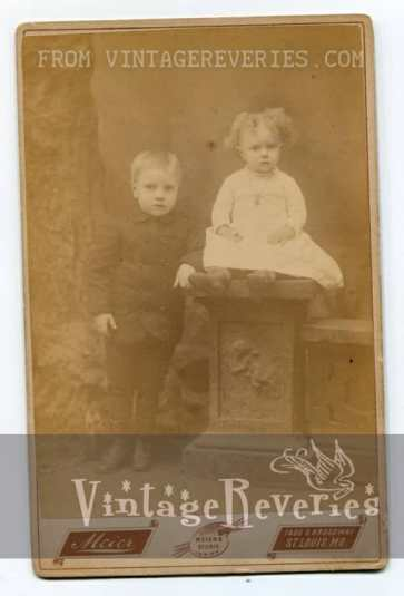 early 1900s sister and brother