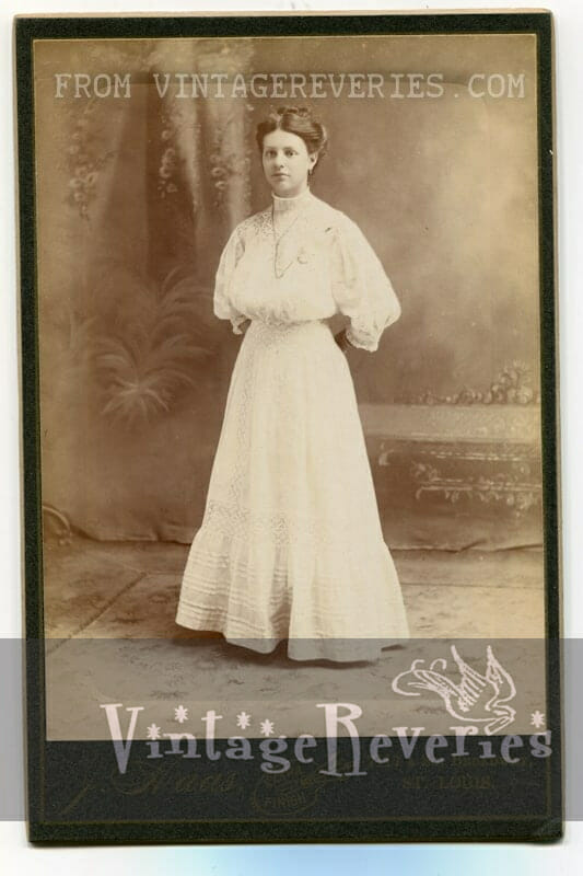 white edwardian era dress