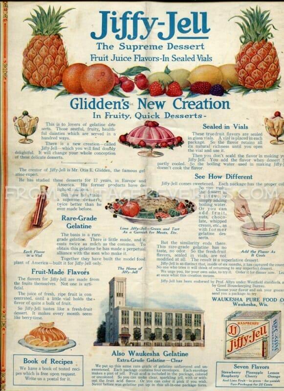 Jiffy Jel Advertisement - April 1917 The Modern Priscilla Magazine