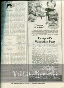 Old Campbells Vegetable Soup ad