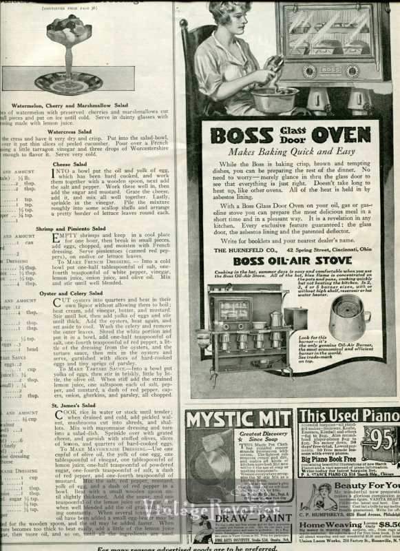 """Edwardian Cooking and Kitchen Advertisements, Advice, and """"How to""""s from 1917"""