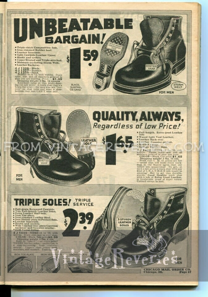 1930s work boot styles