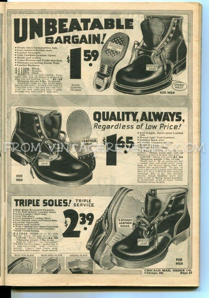 1930s work boot styles
